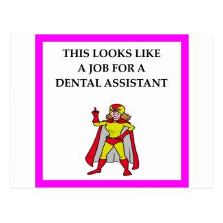 DENTAL assistant Postcard