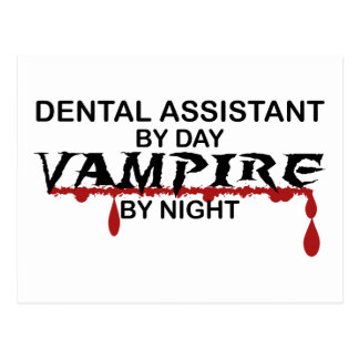 Dental Assistant Vampire by Night Postcard