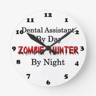 Dental Assistant/Zombie Hunter Round Clock