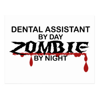 Dental Assistant Zombie Postcard