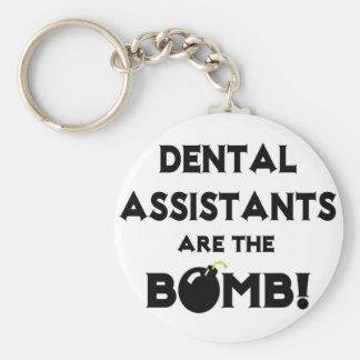 Dental Assistants Are The Bomb! Basic Round Button Key Ring