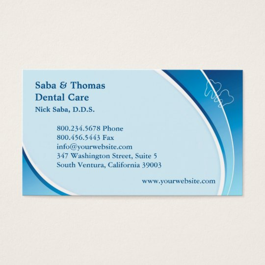 Dental Business Card w/Appointment