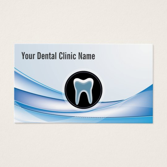 Dental Care Modern Blue Curve Dentist Business Card