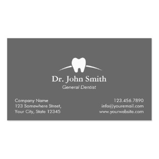 Dental Care Plain Gray Dentist Appointment Pack Of Standard Business Cards