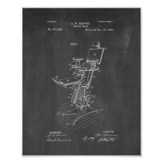 Dental Chair Patent - Chalkboard Poster