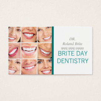 Dental Dentist Dentistry Doctor Teeth Smile Business Card