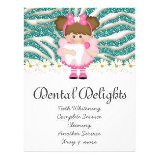 Dental Dentist Tooth Fairy Cute Zebra Glitter 21.5 Cm X 28 Cm Flyer