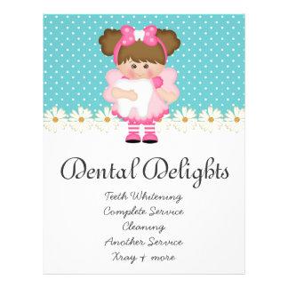 Dental Dentist Tooth Fairy Polka Dot Cute 21.5 Cm X 28 Cm Flyer