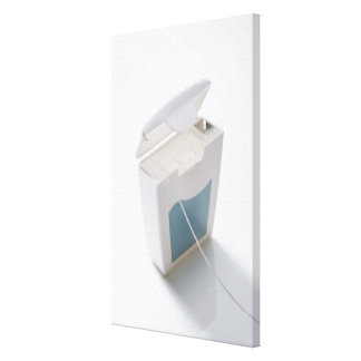 Dental floss canvas print