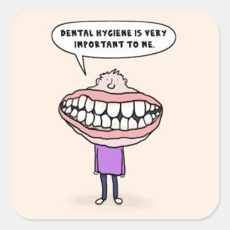 Dental Hygiene Big Mouth Man, Funny Stickers