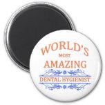 Dental Hygienist 6 Cm Round Magnet