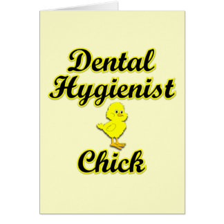 Dental Hygienist Chick Greeting Card