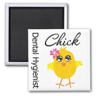 Dental Hygienist Chick v2 Square Magnet