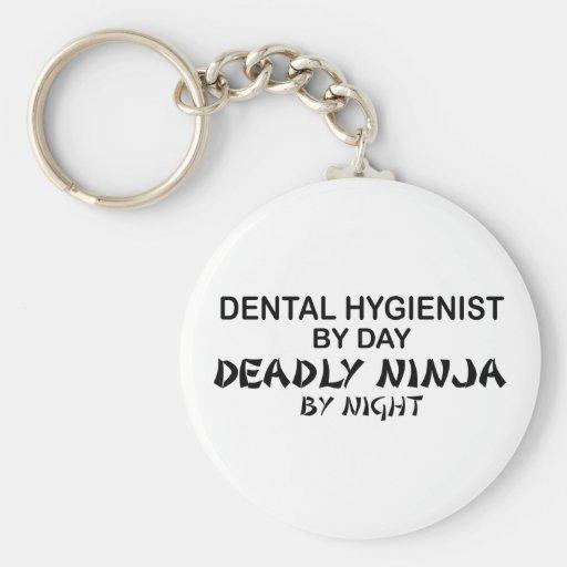 Dental Hygienist Deadly Ninja Key Chains