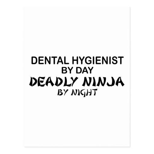Dental Hygienist Deadly Ninja Postcards