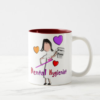 Dental Hygienist Gifts Adorable Hearts Design Two-Tone Coffee Mug