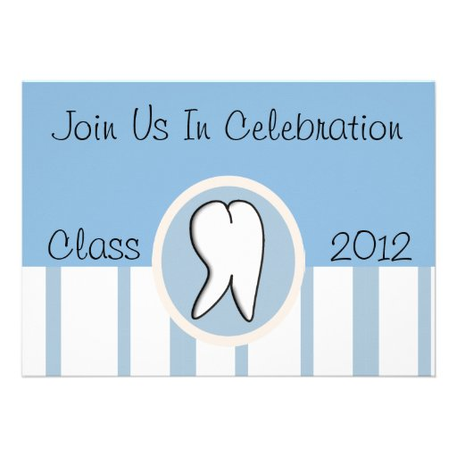 Dental Hygienist Graduation Party Invitations 2012
