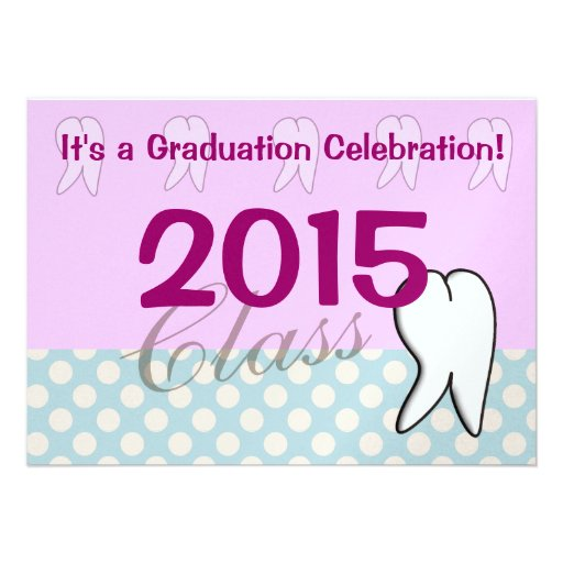 Dental Hygienist Graduation Party Invitations 2015