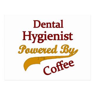 Dental Hygienist Powered By Coffee Postcard