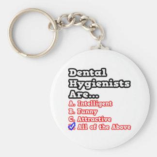Dental Hygienist Quiz...Joke Basic Round Button Key Ring