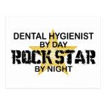 Dental Hygienist Rock Star Postcard