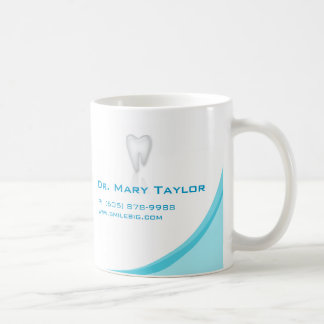Dental Molar Tooth Logo Coffee Mug Turq Curve