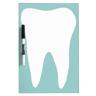 Dental office dry erase board for dentist