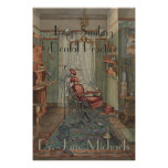 Dental Operating Room Watercolor Gouache Vintage Poster