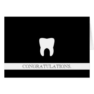 Dental Professional Custom Congratulations Molar Card