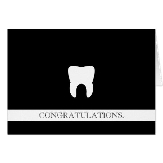 Dental Professional Custom Congratulations Molar Card