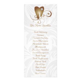 Dental Service Menu Brochure Gold Diamond Tooth Rack Card Design