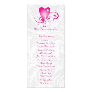 Dental Service Menu Brochure Pink Diamond Tooth Customized Rack Card