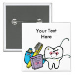 Dental Stuff for Dentist Day March 6th 15 Cm Square Badge