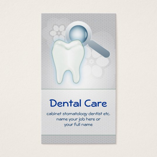 dental teeth tooth business card