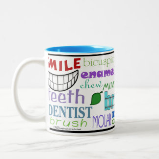 Dental Terms Subway Art Two-Tone Coffee Mug