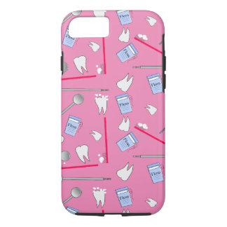 Dental Tools Hygienist and Techs Pink iPhone 8/7 Case