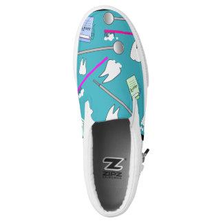 Dental Tools Teal Blue Slip-On Shoes