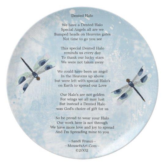 Dented Halo Poem Plate