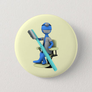Dentist 6 Cm Round Badge