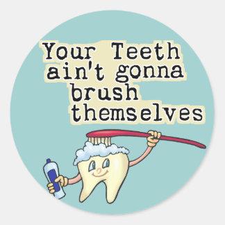 Dentist and Dental Hygienist Humor Classic Round Sticker