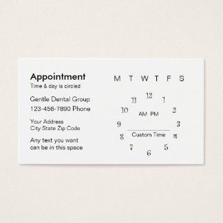Dentist Patient Business Cards Business Card Printing Zazzlecouk - Appointment business card template