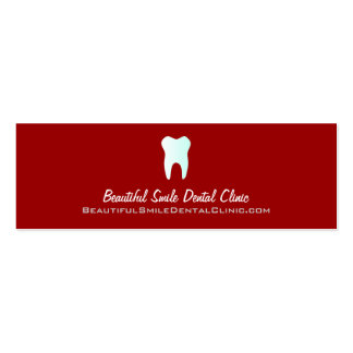 Dentist Appointment Cards- Color changeable Pack Of Skinny Business Cards