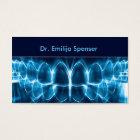 Dentist Blue Glowing Teeth Business Card
