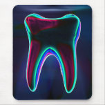 Dentist Blue Glowing Tooth Mousepad