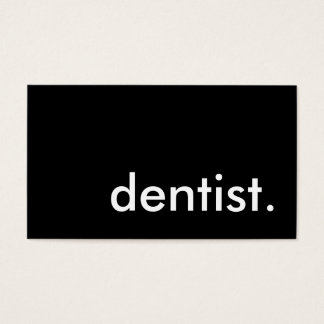 dentist. business card