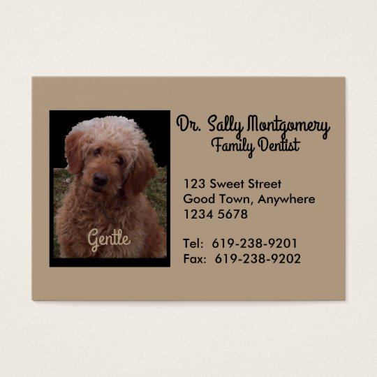 Dentist Business Card - Cutest Dog in the