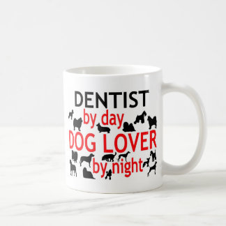 Dentist by Day Dog Lover by Night Classic White Coffee Mug