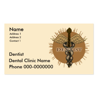 Dentist Caduceus Pack Of Standard Business Cards