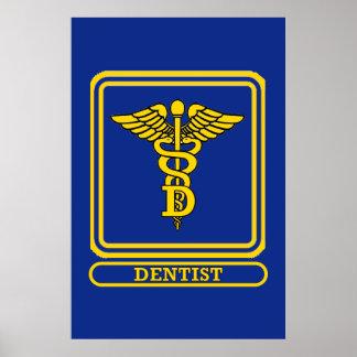 Dentist Caduceus Poster