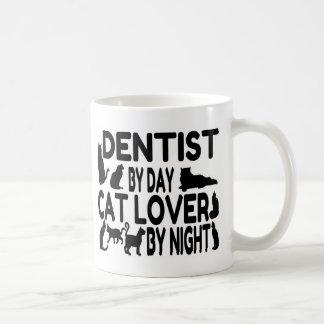 Dentist Cat Lover Basic White Mug